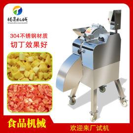 高速果蔬切丁机 多功能水果根茎类切丁切粒机