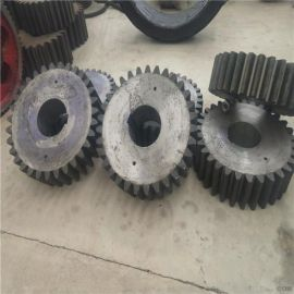 圆柱齿轮滚齿加工2.2x16米石英石滚筒干燥机小齿  齿圈