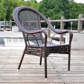 户外休闲桌椅,奶茶店编制藤椅,众美德厂家直销