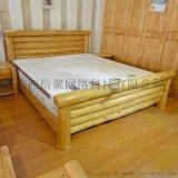 婀弧背圆柱板床 来宾板木布垫家具 百色香凝韧质床