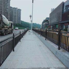 广州公路护栏定制 道路中间黑色栏杆 人行道围栏