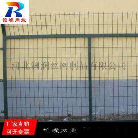 绿色金属防护网铁路栅栏厂家