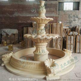 广东砂岩喷泉园林景观喷水池雕塑佛山砂岩雕塑