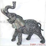 园林不锈钢大象雕塑