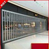 专业订制商场透明防盗门 水晶折叠 弧形侧向拉闸门