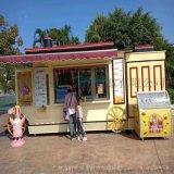 英式复古甜品小吃售卖亭
