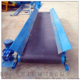 靖江大型物料皮带运输机Lj8加厚型防滑输送机图片