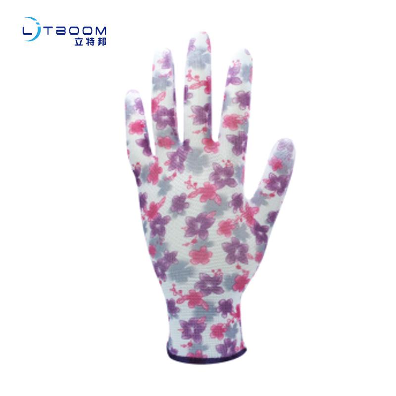园艺类pu手套防护耐磨劳保防静电手套