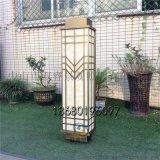 鍍銅拉絲外牆燈售樓部庭院燈新中式長條燈戶外防水燈具