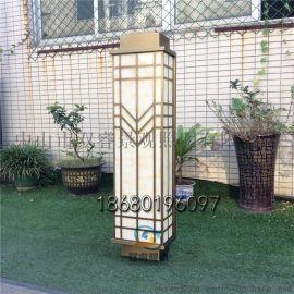 镀铜拉丝外墙灯售楼部庭院灯新中式长条灯户外防水灯具