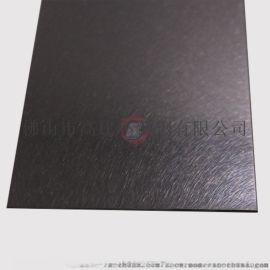 陕西高比304不锈钢乱纹深黑色