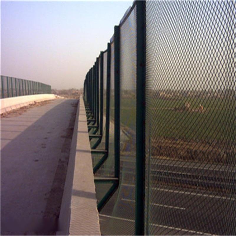 橋樑防拋網  防落網  墨綠色角鋼護網定製