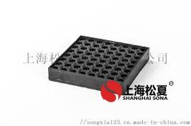 120*120*20橡胶减震垫小型设备橡胶减震垫