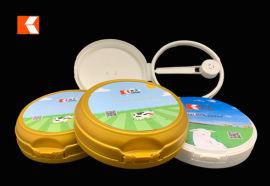 502一体成型注塑奶粉翻盖 可定制模内贴及尺寸