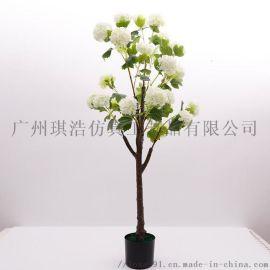 厂家 室内装饰 仿真小树盆栽 仿真绣球树 绣球树