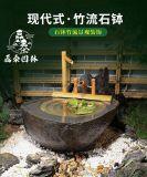 大理石水鉢日式枯山水造景水槽曲陽磊泰園林批發水鉢