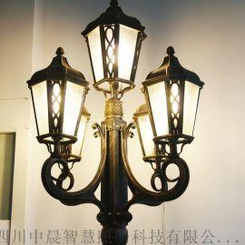 四川中晨 中式复古灯笼庭院灯热镀锌