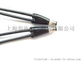 科迎法M12一分二预制一体线缆连接器
