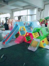 早教中心软体爬滑组合儿童室内大型玩具幼儿园软包感统