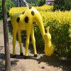 名图定做景观卡通长颈鹿玻璃钢动物雕塑户外长颈鹿雕塑