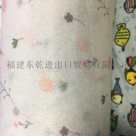 厂家直销现货儿童印花水刺布 规格花色可定制