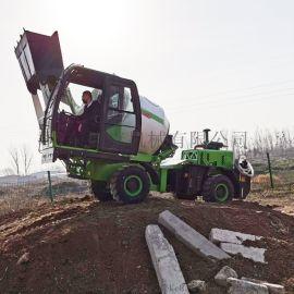 捷克水渠修建自上料搅拌车 1.8方混泥土车 厂家