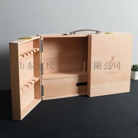 木质红酒盒定制实木白酒红酒收纳木盒