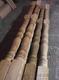 上海米洋木业供应罗马柱楼梯扶手立柱