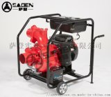萨登6寸自吸污水泵移动抽排污泵本田GX630动力