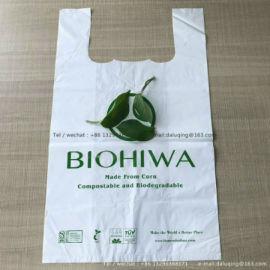 T-shirt bag玉米淀粉全降解背心袋 购物袋