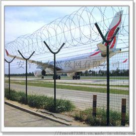 东兴机场护栏网-Y型安全防御网-刺绳护栏网