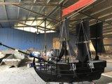 河南周口景觀木船廠家出售防腐木海盜船全國有案例