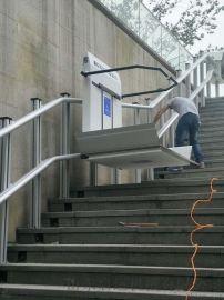 楼道升降机斜挂轮椅电梯残疾人斜挂式平台无障碍设备