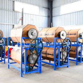 精富厂家供应双层竹木滚筒五金塑胶镜面光饰机
