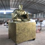 佛山玻璃钢古代人物雕塑景观玻璃钢仿铜人物雕塑