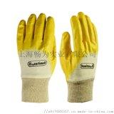 代尔塔201015轻型丁腈手套 涤纶针织防护手套