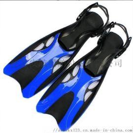 潜水  脚蹼喷射式潜水蛙鞋 可调式扣带PVC干式脚蹼