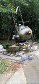 大型创意悬挂式茶壶玻璃钢雕塑景观公园摆件