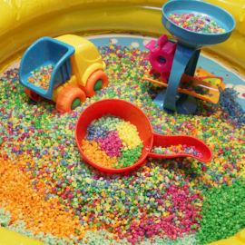 染色石子五彩石 七彩石 儿童沙漏用石子