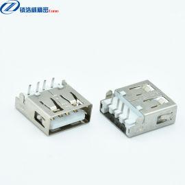 USB连接器 母座 单层 沉板式