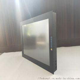 鑫博控新款22寸钢面板嵌入式电阻触摸工业显示器