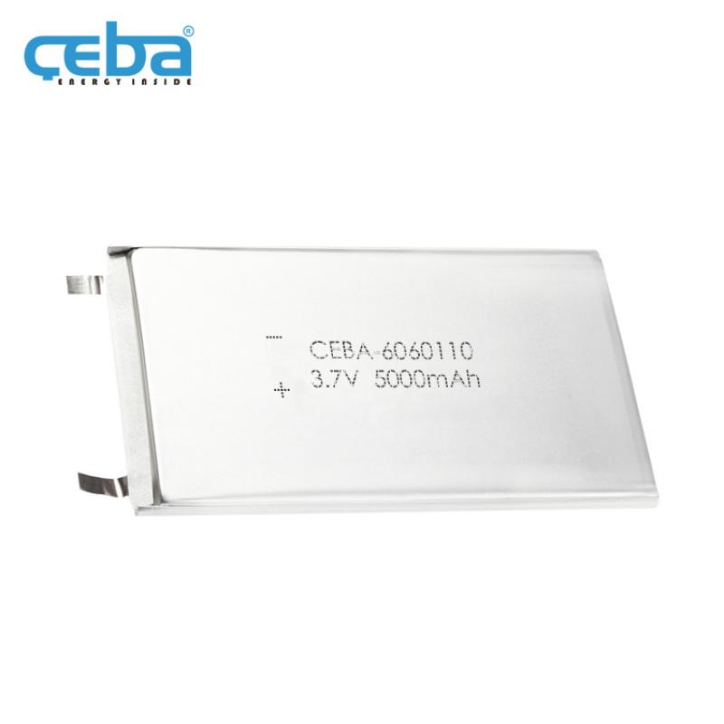 5Ah便携式打印机LP6060110聚合物电池