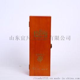 厂家**单支红酒盒酒水装盒 松木盒