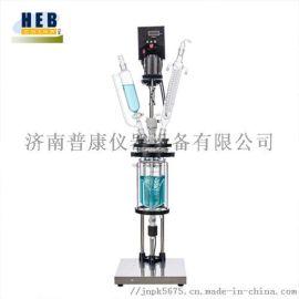 1L双层玻璃反应釜S212-1L 按需定制