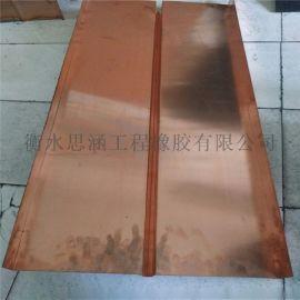 300*8mm钢板止水带 V型紫铜止水带镀锌钢板