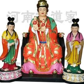 玻璃钢瑶池老母神像 1.9米西王母娘娘 河南佛道家