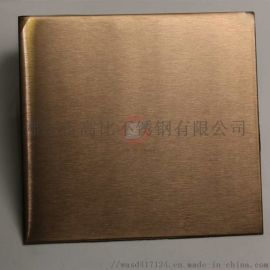 雪花砂黄钛金不锈钢板材 供应黄色雪花砂不锈钢板材