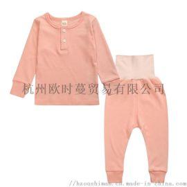 童家居服兒童長袖家居服 家居套裝 外貿兒童套裝