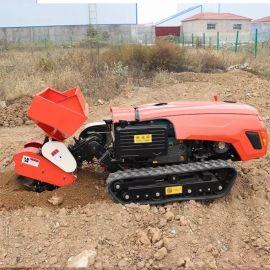 多功能旋耕机 履带式遥控果园管理机 自走式打药机