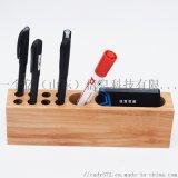 实木办公室品桌面创意笔筒 学习文具笔筒组合